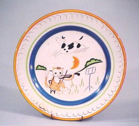 Above Kayu0027s original sketch for Cat and the Fiddle and a production plate of the same pattern. & The Kay Hackett Story